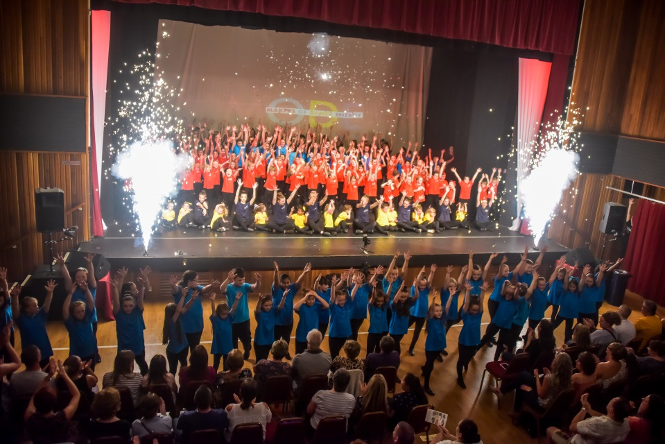 Busy and vibrant - Jazz and street dance taught over 30hrs, 4 days a week, 5 locations, by a team of 4 highly qualified and respected teachers, with 14 dance assistants
